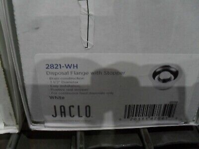 Jaclo 2821-WH Disposal flange with stopper White