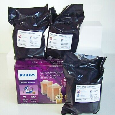 3 x Philips PerfectCare Pure Anti-Scale Cartridge  New Sealed