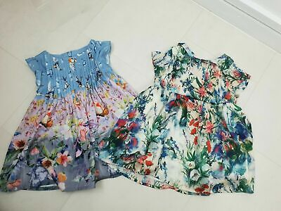 Next Baby Girls Party Occasion 2 x Dress Bundle Size Age 3-6 Months