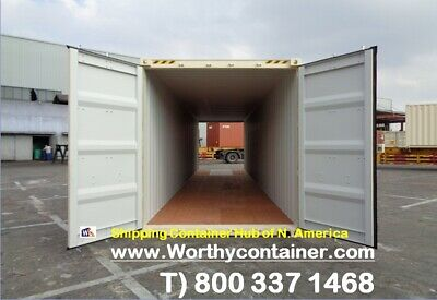 Double Door(DD) - 40' HC New / One Trip Shipping Container in Edmonton, AB, CA