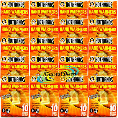 Hot Hands Warmers Heat Warming Pads x 20  Pairs Outdoor Camping 10 Hours Heat