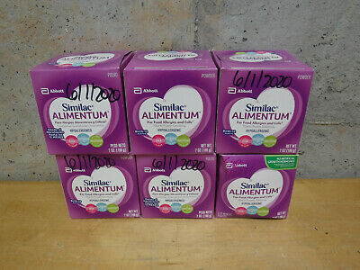 6 Cans of Similac Alimentum Hypoallergenic Powder Formula 7 oz Exp 6/2020