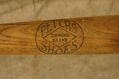 1900's-30's Peters Diamond Brand Shoes Weatherbird Advertising Baseball Bat