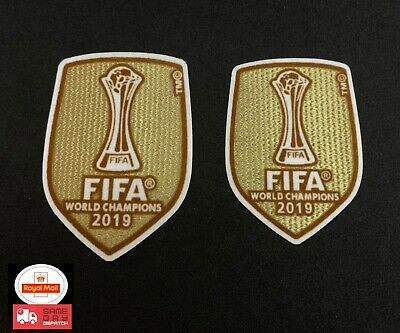 Liverpool Fc World Champions 2019 Patch Badge Gold World Club Cup Lfc 6 Times