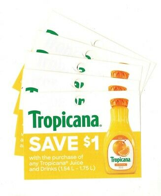 14x Save $1 on Tropicana Juice NEW Coups (Canada)