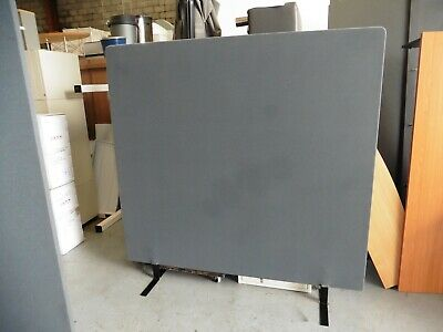 Office 1800Mm Grey Freestanding Fabric Desk Partition Brisbane