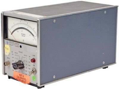 HP Agilent 3400A Hewlett Packard Industrial Volts Gauge Analog RMS Voltmeter