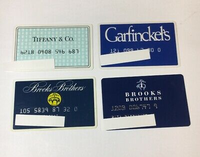 4 Vintage Expired Credit Cards For Collectors -  Retail Theme Lot (7115)