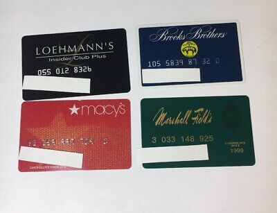 4 Vintage Expired Credit Cards For Collectors -  Retail Theme Lot (7116)
