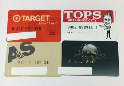 4 Vintage Expired Credit Cards For Collectors -  Retail Theme Lot (7123)