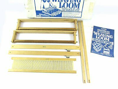 "Vintage Avalon 18"" Wooden Weaving Loom #8181 w/Box & Instructions"