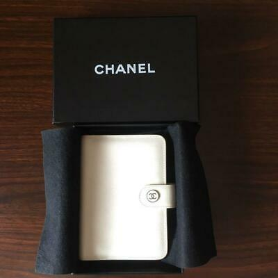 Chanel Notebook cover Calfskin Coco Mark m65586748471 White Pre-owned From Japan