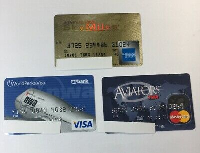 3 Expired Credit Cards For Collectors -  Airline Lot (7126)