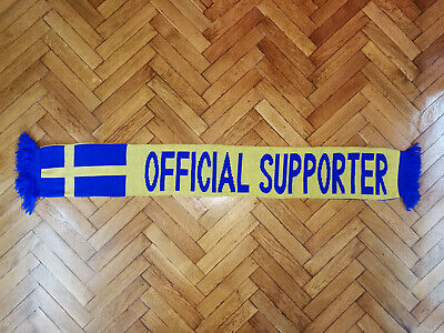 Sweden National Soccer Scarf Football Sverige Fotboll RARE Official Supporter