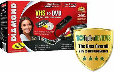 Diamond VC500 USB 2 One Touch VHS to DVD Video Capture Converter NEW