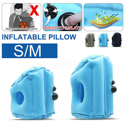 2020 Inflatable Air Travel Pillow Airplane Head Cushion Neck Support Nap Rest