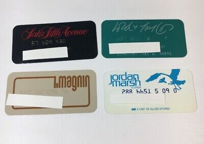 4 Vintage Expired Credit Cards For Collectors -  Retail Store Lot (7136)