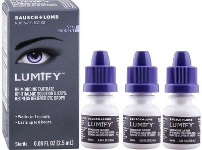 Lumify Redness Reliever Eye Drops 0.08 oz (3 Pack)
