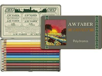Faber Castell 12 Coloured Pencils Polychromos Light Resistant Clear Waterproof