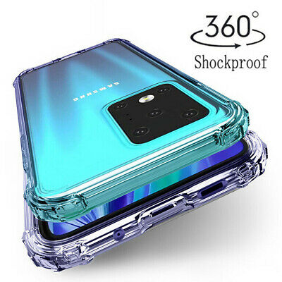 For Samsung Galaxy S20 Ultra Shockproof Bumper Transparent Silicone Case Cover