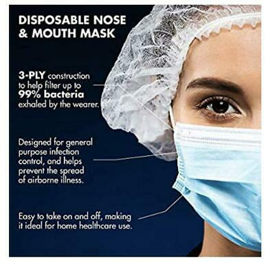 Disposable Surgical Face Mask 3ply for Virus & Flu Protection (Sealed Box of 50)