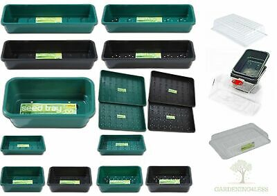 Garland Garden Seed Trays and Lids Plastic Hydroponic Greenhouse Propagation