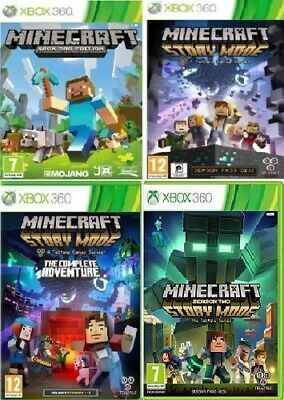 XBOX 360 Minecraft Story Mode Xbox 360 Assorted Games - MINT - FAST DELIVERY