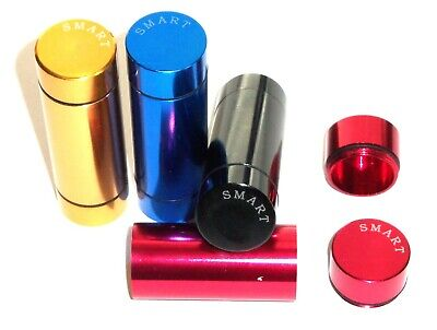 Set of 4 Aluminum Storage Case for Kitchen Spice Tobacco Herbs Pills