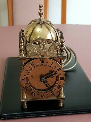 Vintage Smiths Electric Brass Lantern Carriage Chime Clock for Parts or Repairs