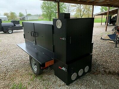 BBQ Cabinet Smoker Catering Grill Sling 'N' Steel Custom Smokers