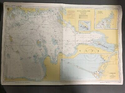 Vintage Nautical Map Of Baltic Sea ,Golf Of Finland ,Eastern Part.