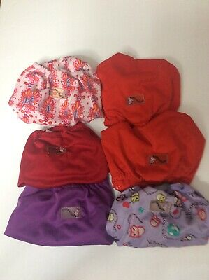Girls- Rumparooz Baby Diaper Covers. 6 pack. One Size Fits Most - Newborn
