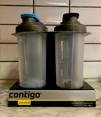 Contigo Shake & Go Fit Twist Lid Shaker Bottle, 28 oz 2-pk