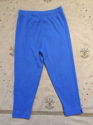 Hanna Andersson Blue Ribbed Cotton Cropped Leggings, Size 160