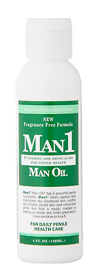 Man1 Man Oil Natural Penile Health Creme-Now Fragrance Free! Worldwide Shipping.