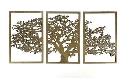Large Tree 3D of Life Wall Wooden Art wood decor picture screen divider panel 12