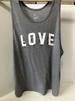 "Old Navy Active Go Dry  Gray Tank Top Size XL ""Love"""
