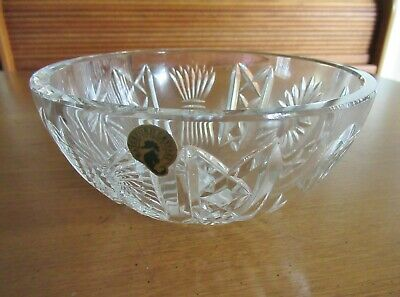 "Vintage 2000 Waterford Crystal 5 Universal Wishes 7"" Millennium Collection Bowl"