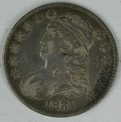 1831 Capped Bust Half Diollar Reverse Scratches