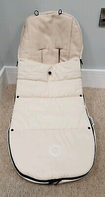Bugaboo Off White Footmuff/cosytoes 2016 Velcro good condition one small mark