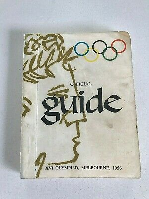 Olympic Games Collectable 1956 Melbourne Vintage Games Official Guide Great Info