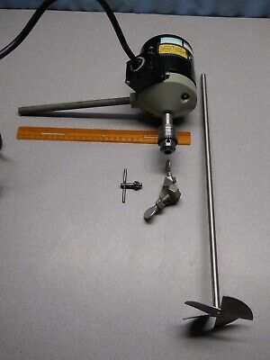 Fisher Scientific Jumbo Stirrer Model 47 With Paddle, Lab Stand Clamp, Chuck Key