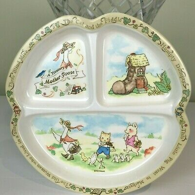 PECO Melamine Ware - Preloved Mother Goose, Three Blind Mice, Cat and the Fiddle