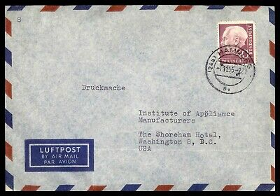 Mayfairstamps GERMANY 1950s HAMBURG AIR MAIL TO DC USA COVER wwd21579