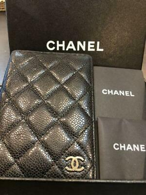 Chanel Notebook cover Address book Coco Mark m52806677650 Black Pre-owned Japan