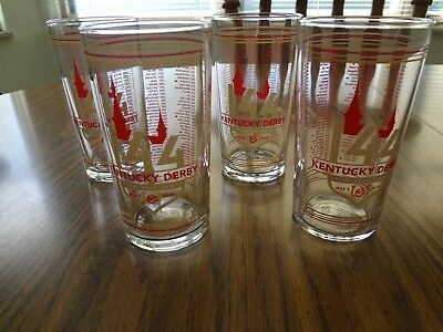 Ready to SHIP! NEW 2018 Official Kentucky Derby Glass  BRAND NEW  SET of FOUR