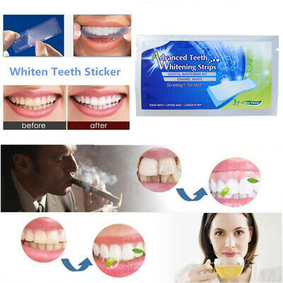 3D Professional Teeth Whitening Safe Tooth Bleaching White Strips 1/14 Pouches