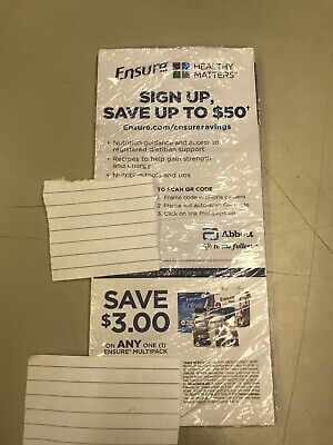 25 Coupons - Save $3 Off Ensure Multipack ($75 value)  Exp 6/29/20