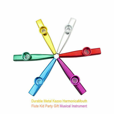 Metal Kazoo Harmonica Mouth Flute Kid Party Gift Musical Instrument Hot AS