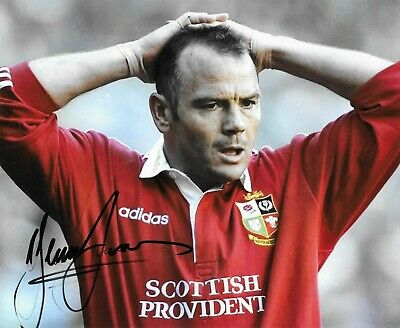 "RARE HAND SIGNED 10"" x 8"" COLOUR PRINT - IEUAN EVANS - WALES RUGBY UNION LEGEND"
